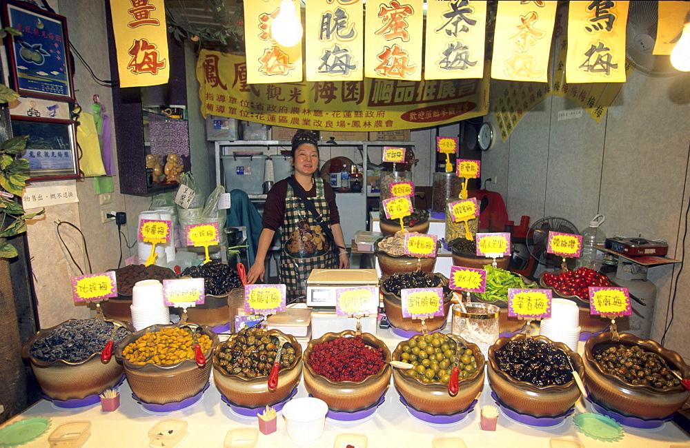 Salesman at a snack bar at Chiufen, Taiwan, Asia