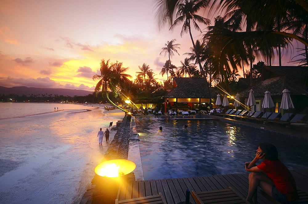 Evening at Chaweng Beach, Ko Samui, Thailand - 1113-23469