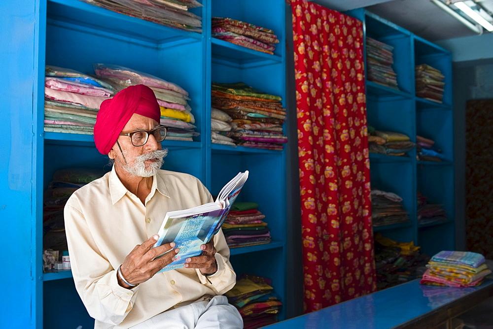 fabric merchant, sikh, Port Blair, Andaman Islands, India