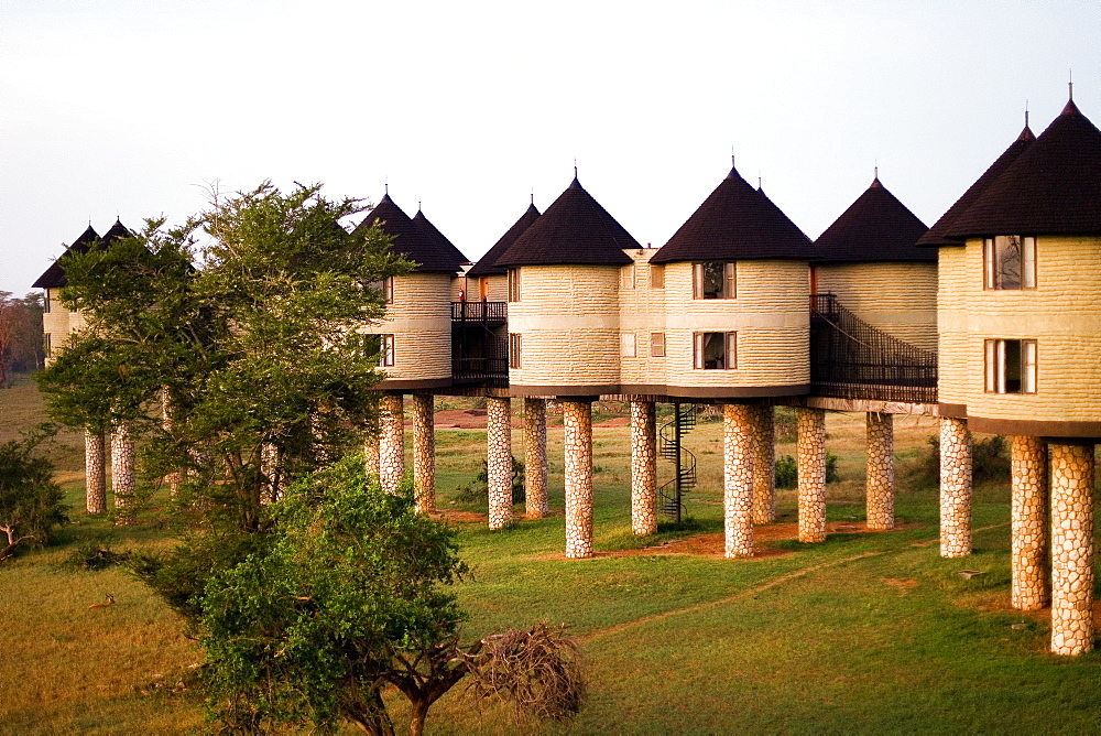 Sarova Salt Lick Lodge in the evening, Taita Hills Game Reserve, Coast, Kenya