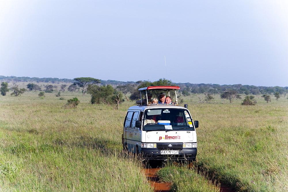 Safari bus on the way in Taita Hills Game Reserve, Coast, Kenya - 1113-2363