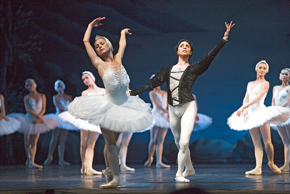 Swan Lake in the Conservatory theatre, Saint Petersburg, Russia
