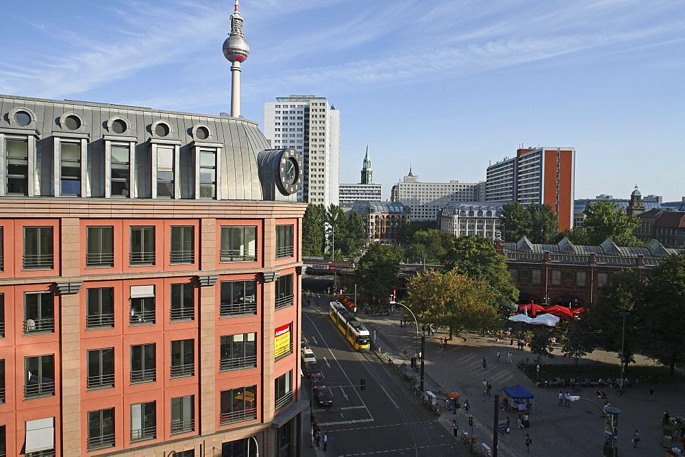 The Hackescher Markt, Hacke Market, end of the Oranienburger Strasse, Berlin