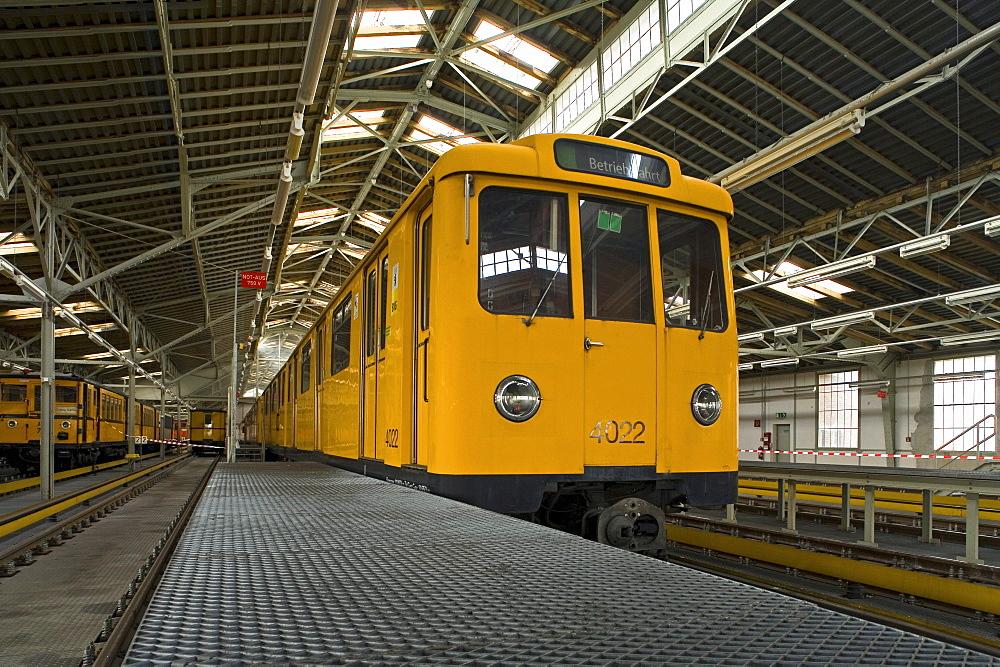 Local train at the train depot Warschauer Bahnhof, Berlin, Germany, Europe