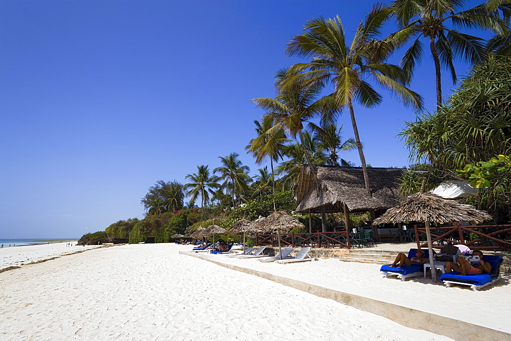 Tourists relaxing at Diani Beach, Southern Palms Hotel, Coast, Kenya