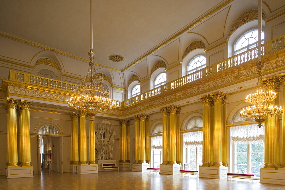 The Armorial hall in the Hermitage in the Winter Palace, Saint Petersburg, Russia