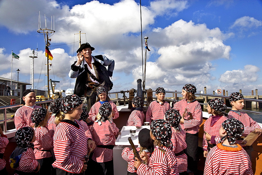 Pirate cruise for children, List, Sylt Island, Schleswig-Holstein, Germany