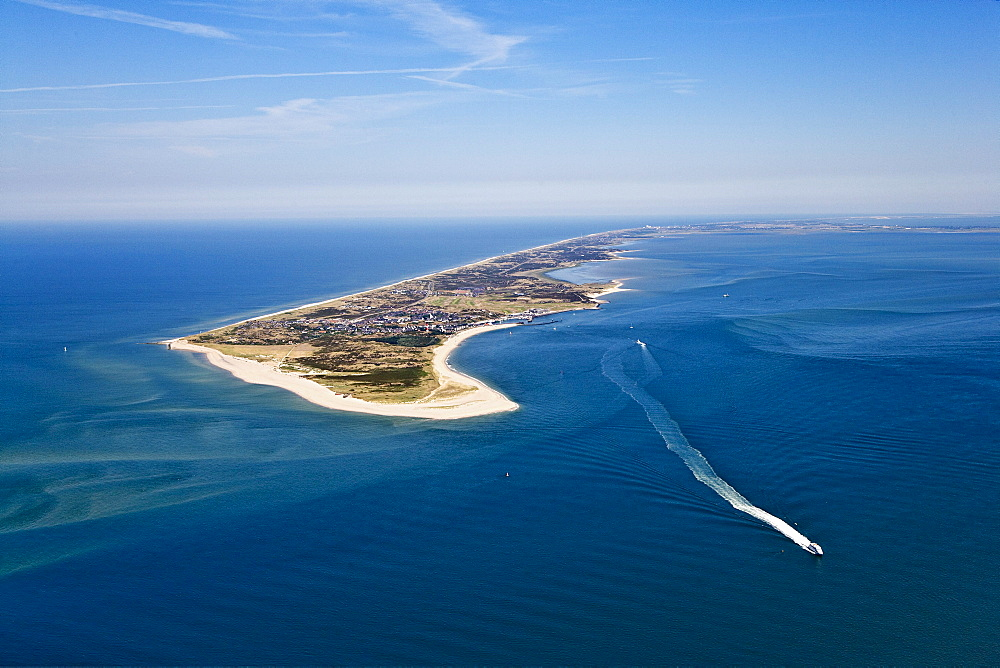 Aerial shot of Sylt Island, Schleswig-Holstein, Germany
