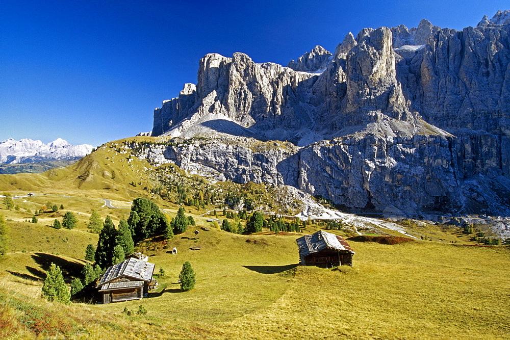 Passo di Gardena, Gruppo di Sella, Dolomite Alps, South Tyrol, Italy