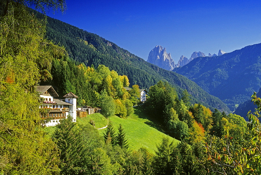 Alpine Guesthouse, Le Odle, Val di Funes, Dolomite Alps, South Tyrol, Italy