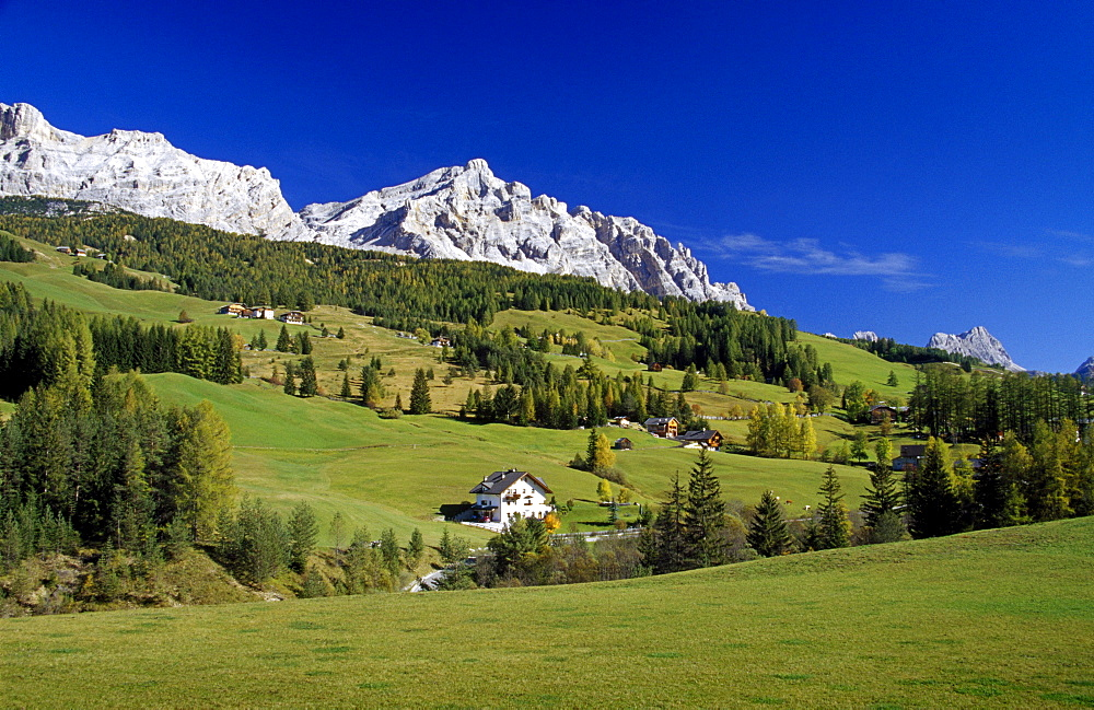 View to Sasso Croce, Val Badia, Dolomite Alps, South Tyrol, Italy
