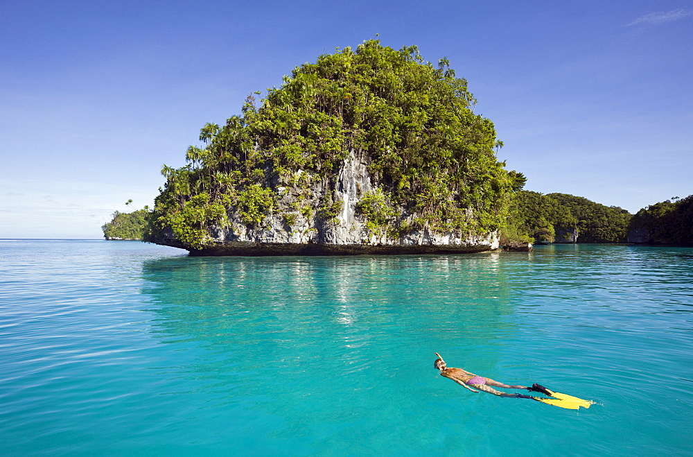 Snorkeling Rock Islands, Micronesia, Palau - 1113-27108