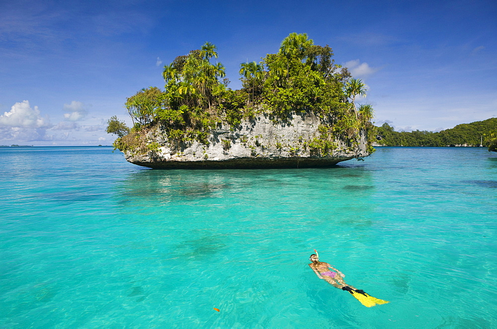 Snorkeling Rock Islands, Micronesia, Palau - 1113-27110
