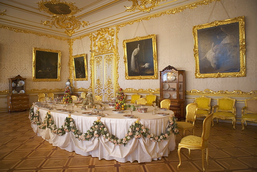 Catherine Palace in Tsarskoye Selo, 25 km south east of St. Petersburg, Russia