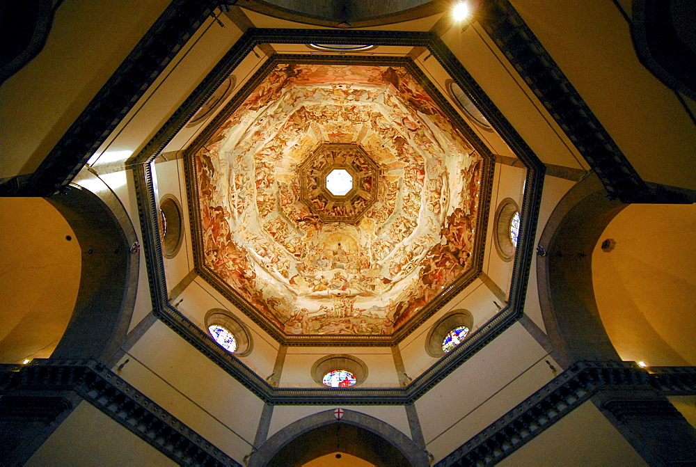 Duomo di Santa Maria del Fiore, view into the cupola, Florence, Tuscany, Italy, Europe