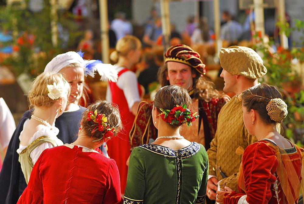 Dance group from Riga at the mediaeval market, Tallinn, Estonia - 1113-27535