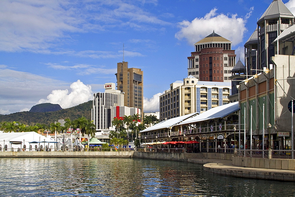 Port Louis, waterfront, downtown, city center, Mauritius, Africa