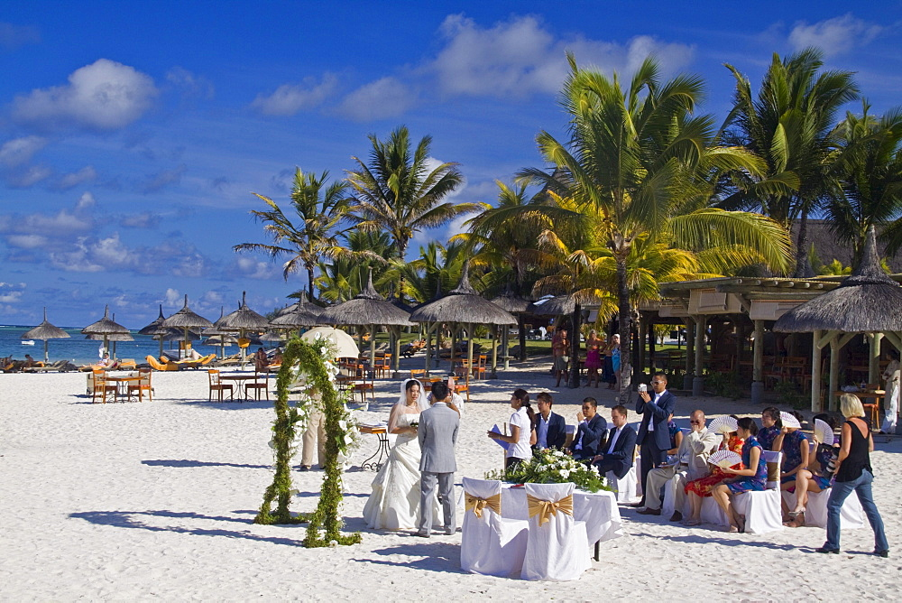 Hotel Constance Belle Mare plage, wedding ceremony on the beach, Mauritius, Africa