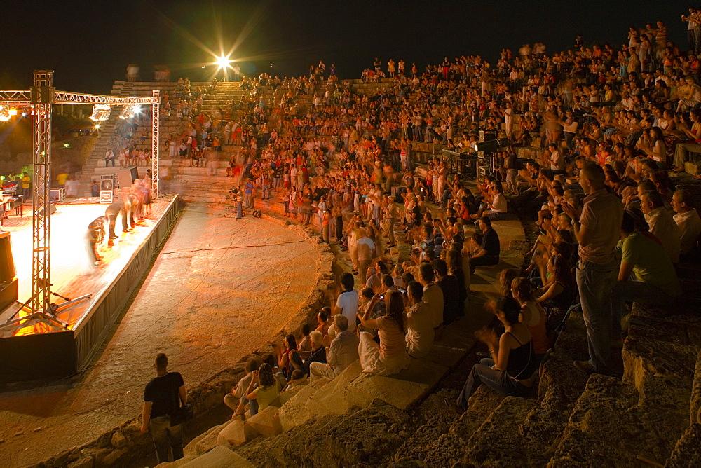 Open air dance festival, Salamis Theater, Salamis ruins, Salamis, North Cyprus, Cyprus