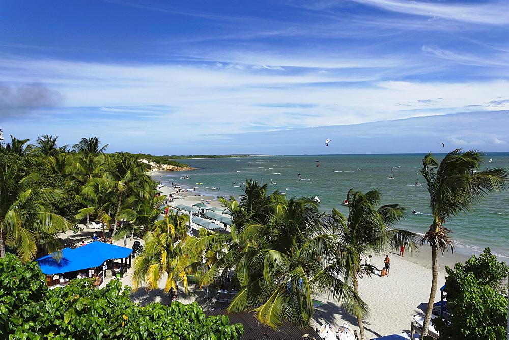 View over Playa El Yaque, Isla Margarita, Nueva Esparta, Venezuela