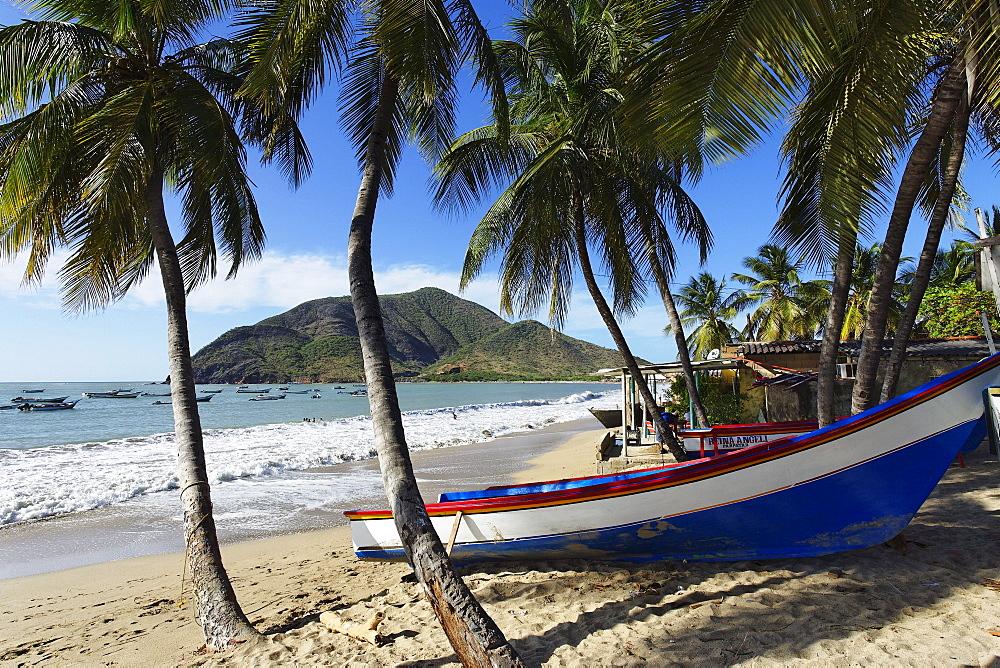 Fishing boats at Playa Galera, Juangriego, Isla Margarita, Nueva Esparta, Venezuela