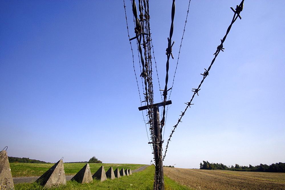 Iron curtain memorial in Cizov (Zaisa), Czech Republic
