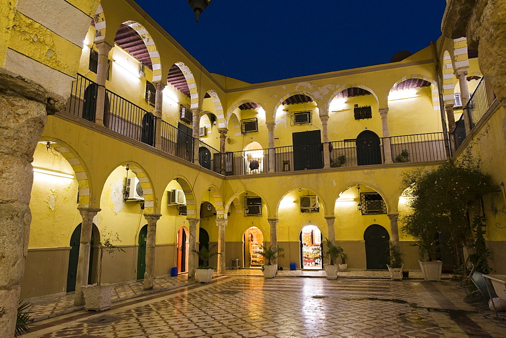 Inner Courtyard in the Medina, Old Town, Tripoli, Libya, Africa