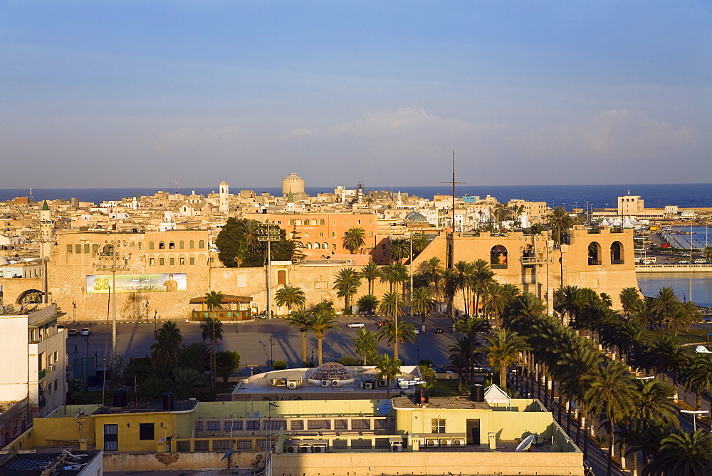 Skyline of Tripoli with National Museum, Libya, Africa