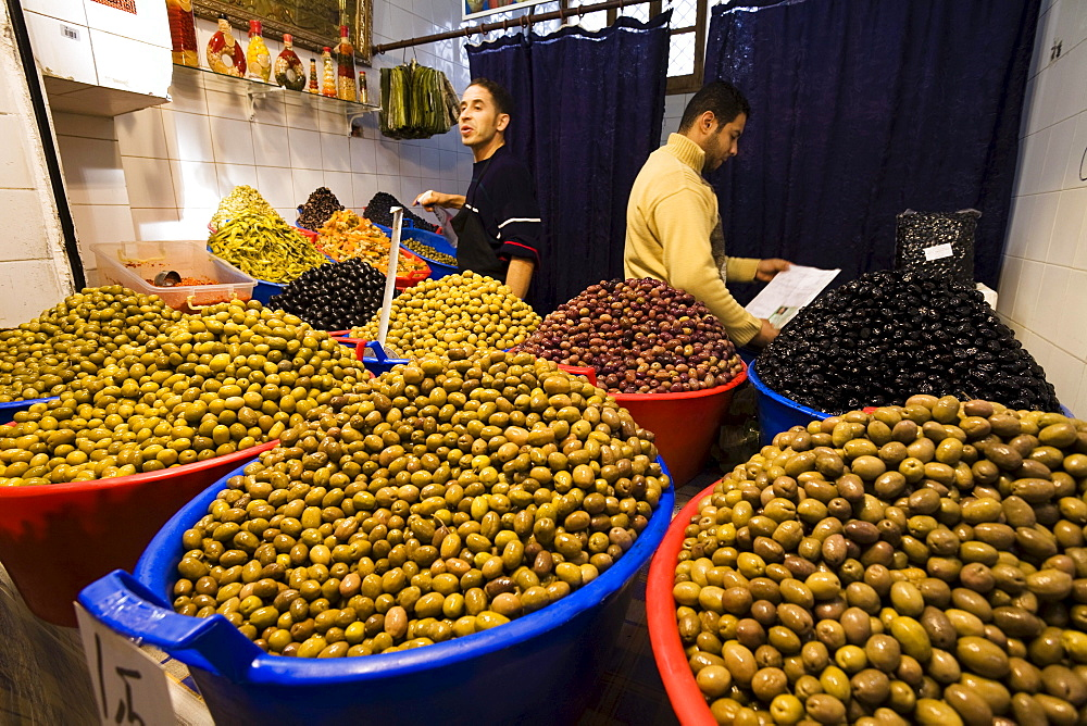 Olives on the Vegetable Bazar in Tripoli, Libya, Africa