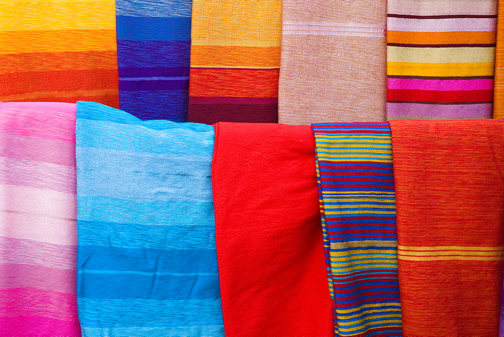 Material sold on the market in Marrakech, Marrakech Province, Morocco