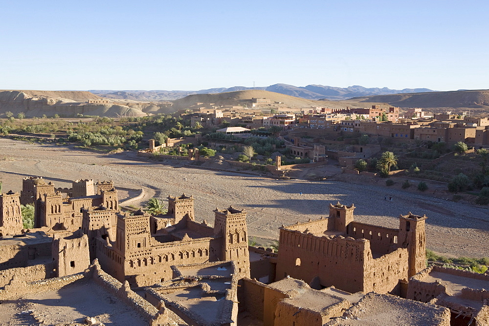 Kashba in Ait-Ben-Haddou, Unesco World Heritage, near Ouarzazate, High Atlas Mountains in the southeast of Morocco