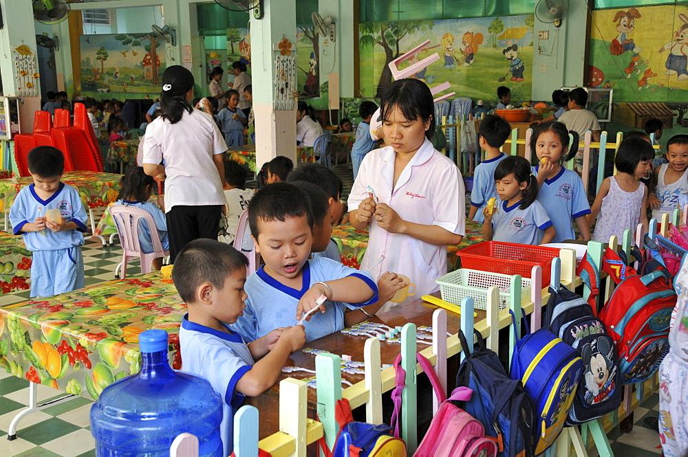Children in playschool, kindergarden in Saigon, Ho Chi Minh City, Vietnam