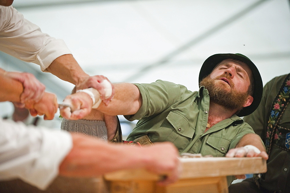 Competition, Alpine Finger Wrestling Championship, Antdorf, Upper Bavaria, Germany - 1113-34669