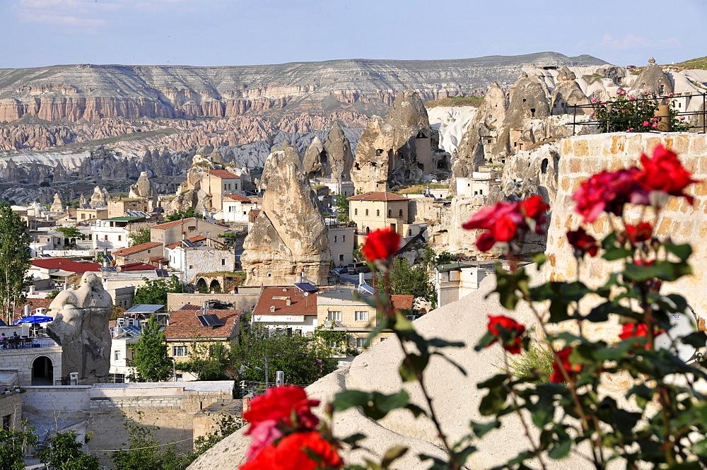 View of the valley of Goereme, Cappadocia, Anatolia, Turkey
