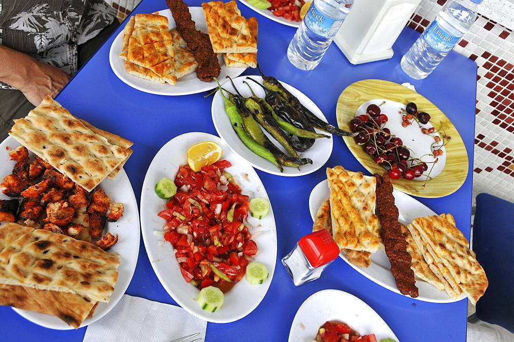 food in restaurant in Anatolia, Turkey