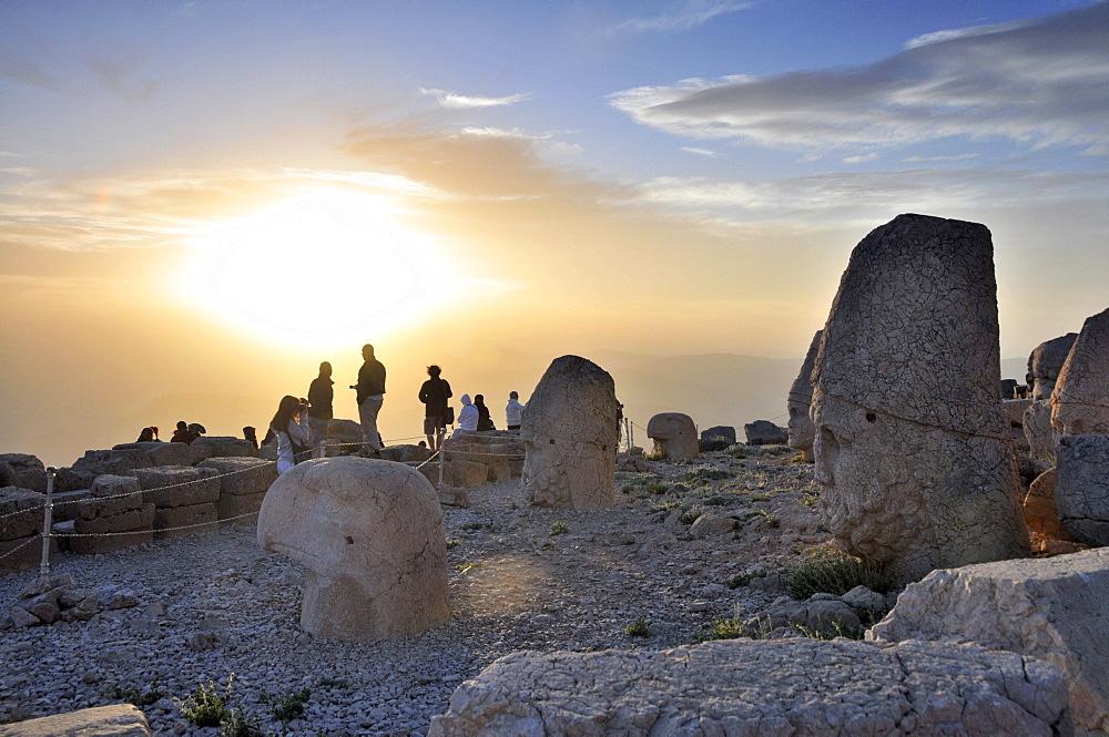 Sunset in Nemrut Dagi, westpart, east Anatolia, Turkey
