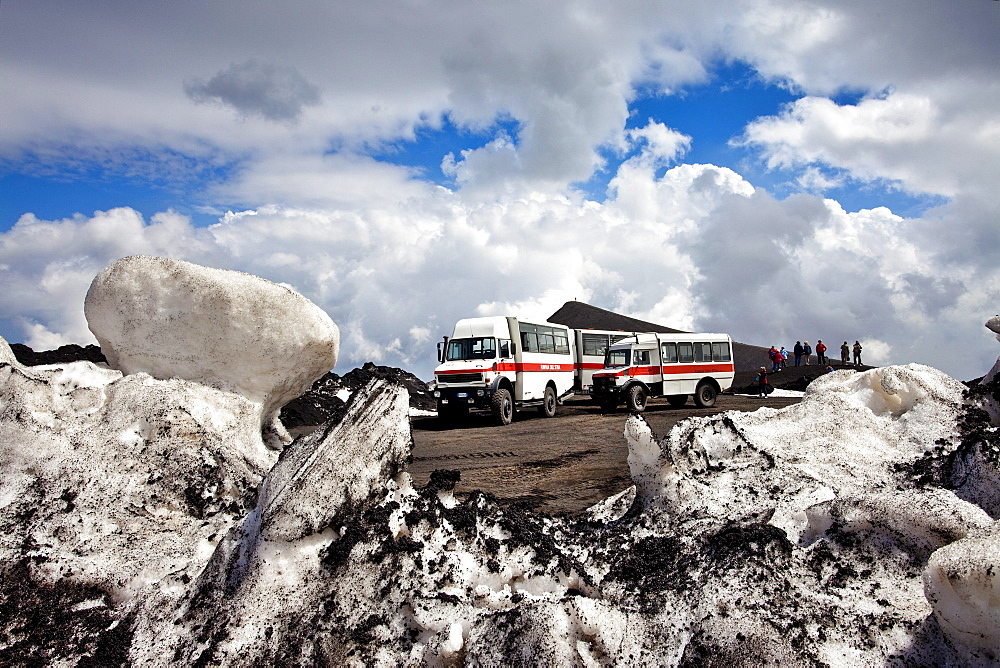 Jeeptour on the top, Mount Etna, Sicily, Italy