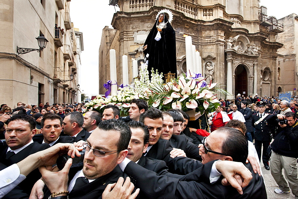 Saint statue, God friday procession, Trapani, Sicily, Italy