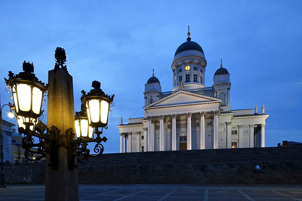 Helsinki cathedral in the evening light, Helsingin Tuomiokirko, Helsinki, Finland