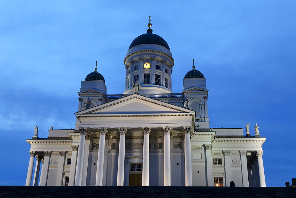 Hensinki cathedral in the evening light, Helsingin Tuomiokirko, Helsinki, Finland