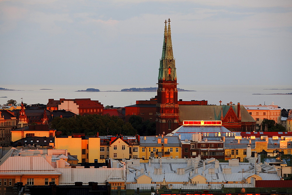 View from the roof top bar of Torni Hotel, Helsinki, Finland