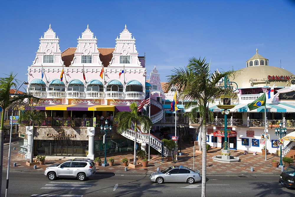 Colorful Dutch-influenced architecture, Oranjestad, Aruba, Dutch Caribbean