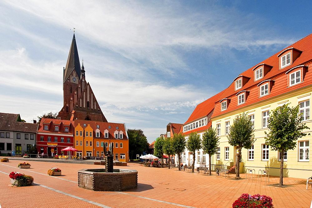 St. Mary's Church, market place, Barth, Mecklenburg-Vorpommern, Germany