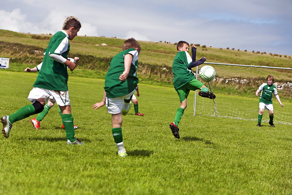 Young boys playing football, County Clare - 1113-37572