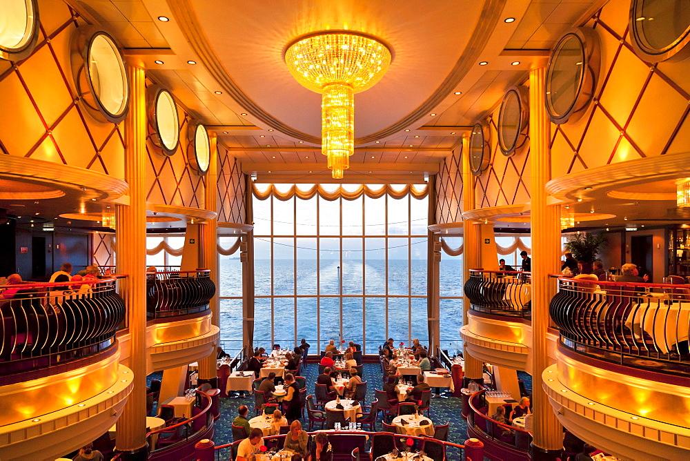 Restaurant, Ferry cruise ship Color Fantasy, Route Kiel - Oslo, South Norway, Norway