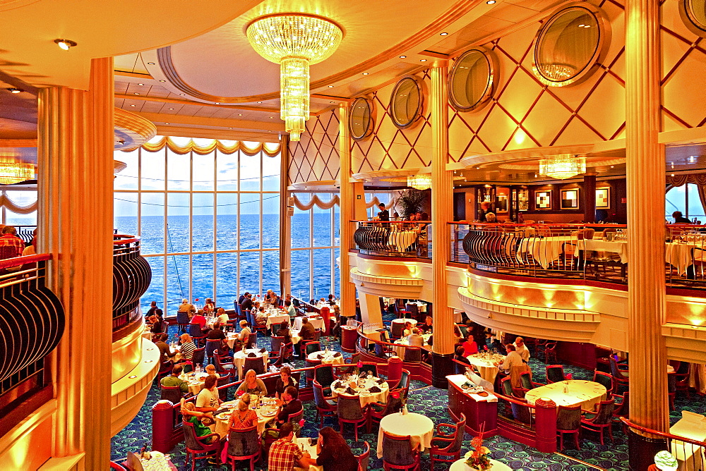 Restaurant, Ferry cruise ship Color Fantasy, Route Kiel - Oslo, South Norway, Norway - 1113-38066