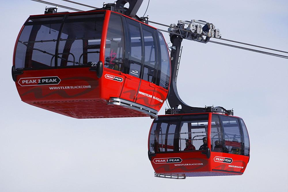 Gondola lift, Whistler, British Columbia, Canada