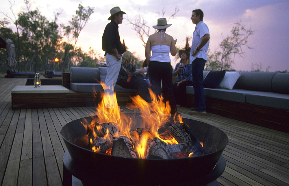 Evening at the luxurious Wrotham Park Lodge in the Cape York peninsula in Queensland, Australia