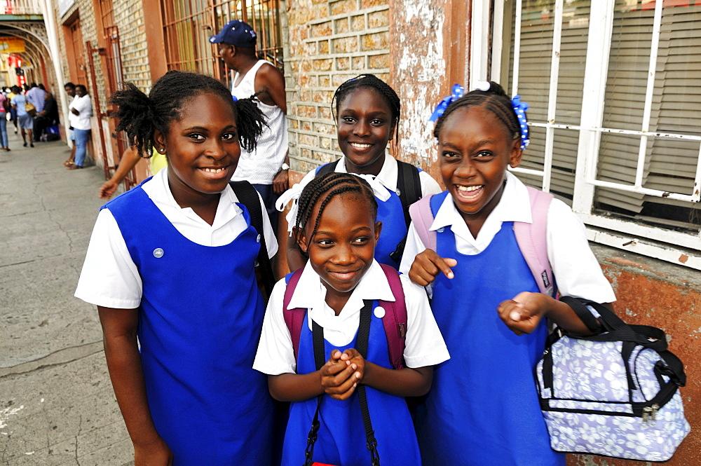School schildren, Saint George, Grenada, Caribbean