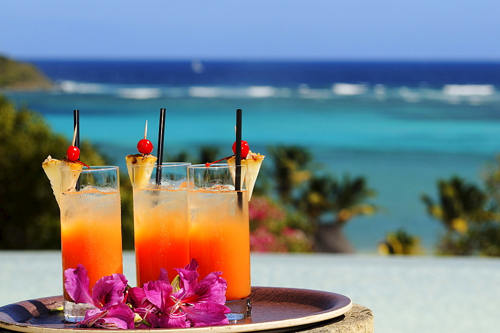 Welcome-Drinks, Canouan Island, Saint Vincent, Caribbean